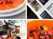 Cheesecake salé robiola, gelée poivrons grillés pour Weekend