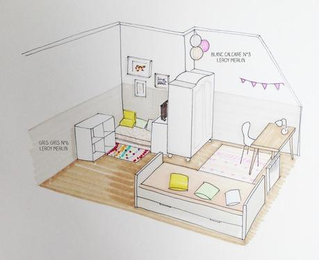 Chambre de fille voir - Idee pour separer une chambre en deux ...