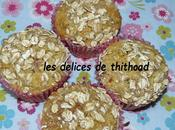 muffins abricots-raisins secs, flocons d'avoine
