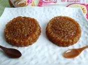 gâteaux diététiques perles konjac caramel psyllium seulement calories(sans oeufs sans beurre)