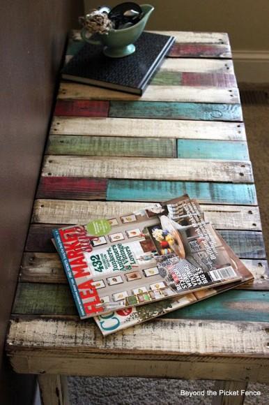 Diy palettes de chantier lire - Table salon palette chantier ...