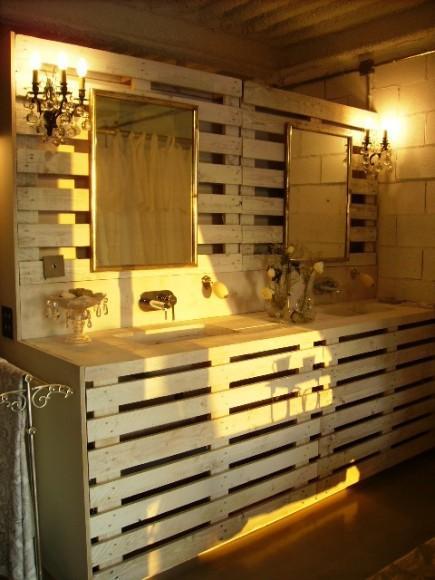 Suspension Salle De Bain Ikea : palettes chantier do it yourself diy meuble etagere lit bois mogwaii …