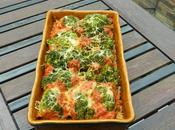 Gratin veau, brocolis, riz, sauce tomates poivrons, comté