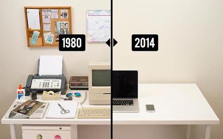 l volution de notre bureau de travail de 1980 2014 paperblog. Black Bedroom Furniture Sets. Home Design Ideas
