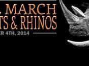 Marche pour éléphants rhinocéros