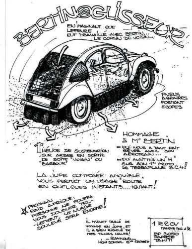 Citroen 2cv hommage monsieur bertin dessins - Dessin 2cv humour ...