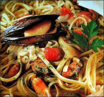 P tes aux fruits de mer paperblog - Pates aux fruits de mer vin blanc ...