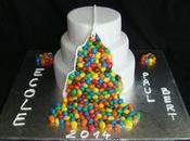 Gâteau M&M's pour Kermesse d'école, wedding cake