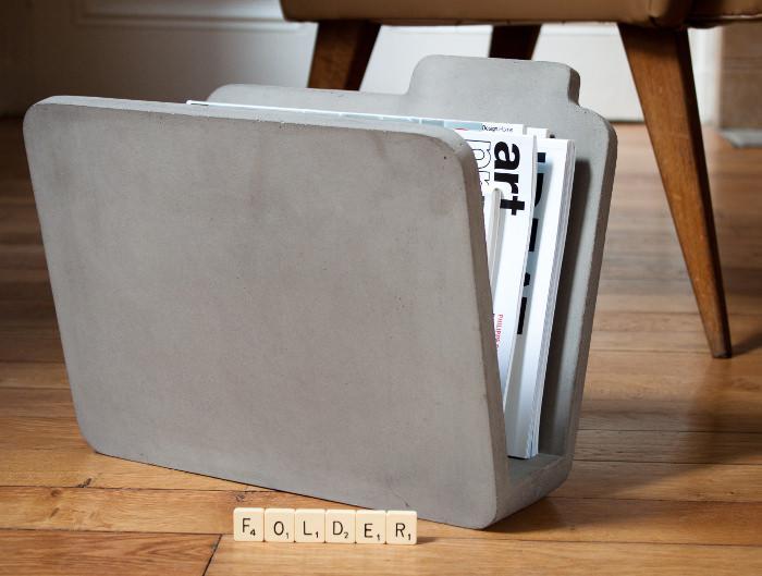 Le b ton comme mat riau par bertrand jayr paperblog - Porte journaux design ...