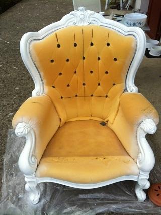 r nover un vieux fauteuil paperblog. Black Bedroom Furniture Sets. Home Design Ideas