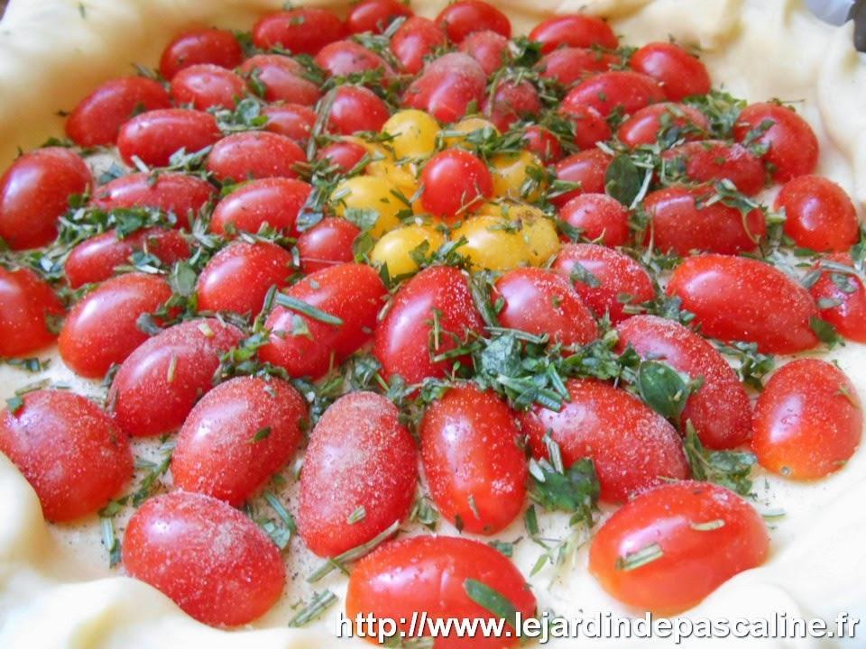 Recette tarte la tomate cerise paperblog - Faire pousser tomate cerise ...