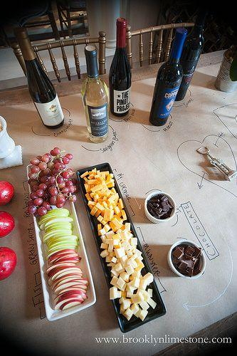 kraft paper tablecloth appetizer
