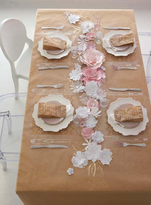 Make a paper tablecloth