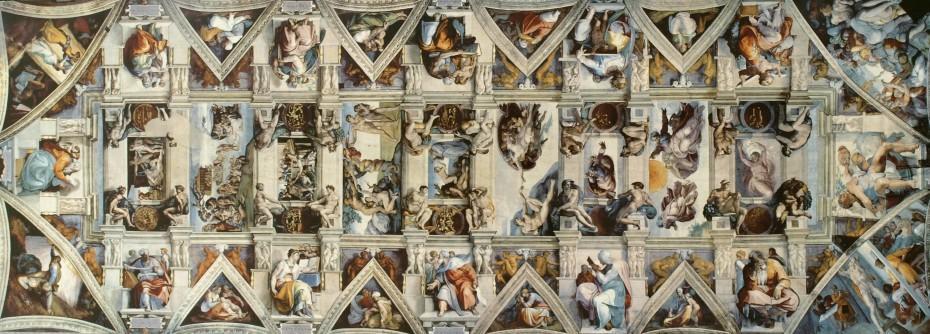 Le jeune saint jean baptiste au b lier de caravage et l ignudo de michel ange paperblog - Plafond chapelle sixtine michel ange ...