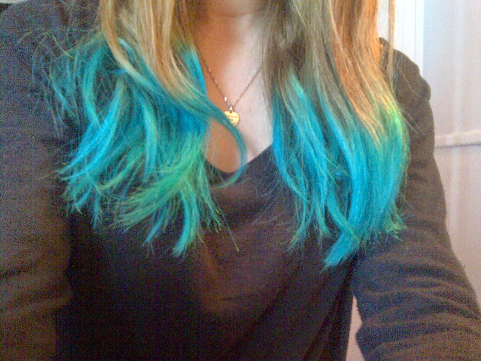 Ma routine cheveux paperblog - Coloration cheveux bleu ...