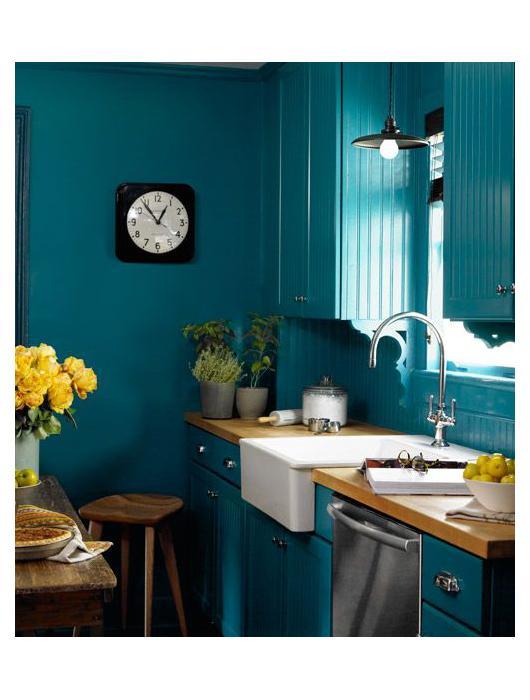 25 id es de cuisine bleue paperblog. Black Bedroom Furniture Sets. Home Design Ideas