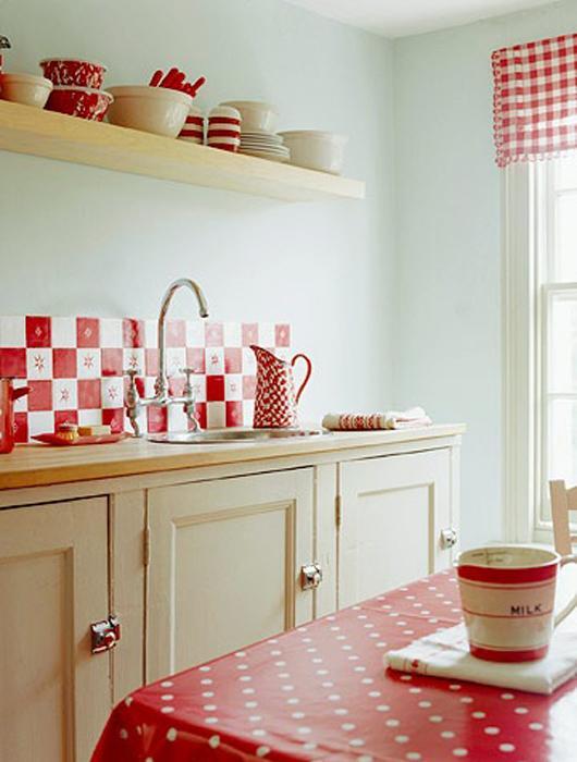 25 id es de cuisine rouge lire for Cuisine retro rouge