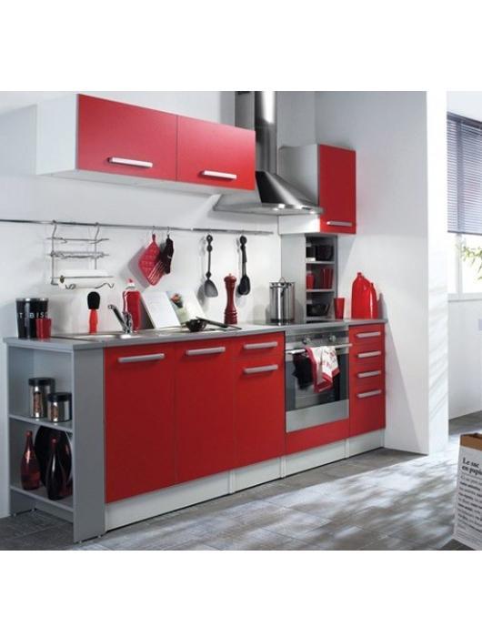 25 id es de cuisine rouge lire for Idee cuisine en u
