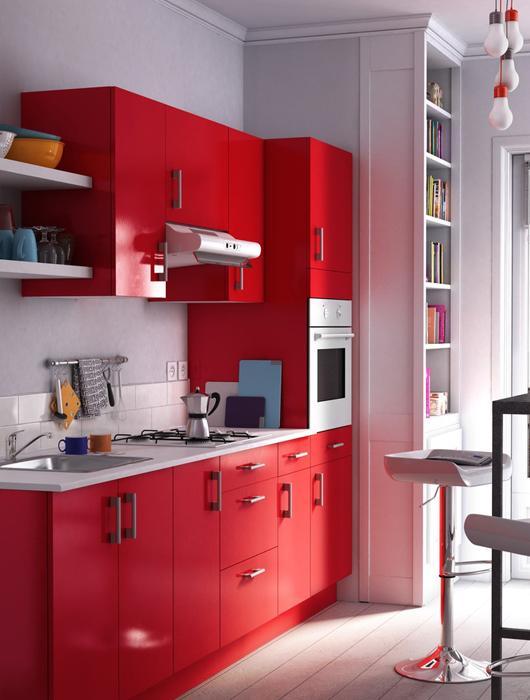 25 id es de cuisine rouge lire for Idee deco cuisine rouge