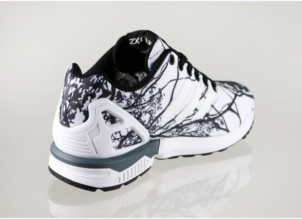 baskets adidas zx flux black white
