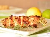 Brochettes poulet yaourt {Light}