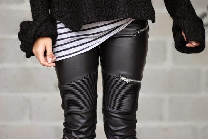 pantalon biker femme