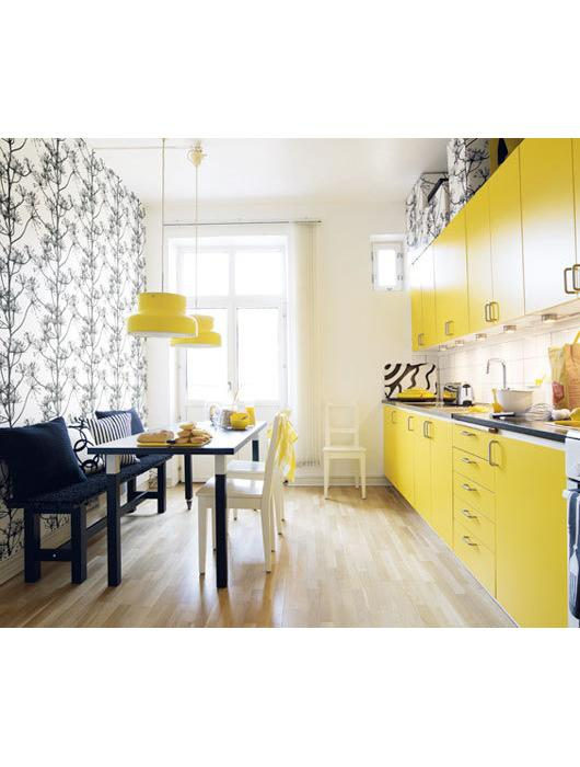 20 id es de cuisine jaune paperblog. Black Bedroom Furniture Sets. Home Design Ideas