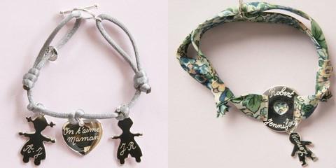 bracelet personnalis 10 id es originales pour offrir un cadeau de naissance aux mamans voir. Black Bedroom Furniture Sets. Home Design Ideas