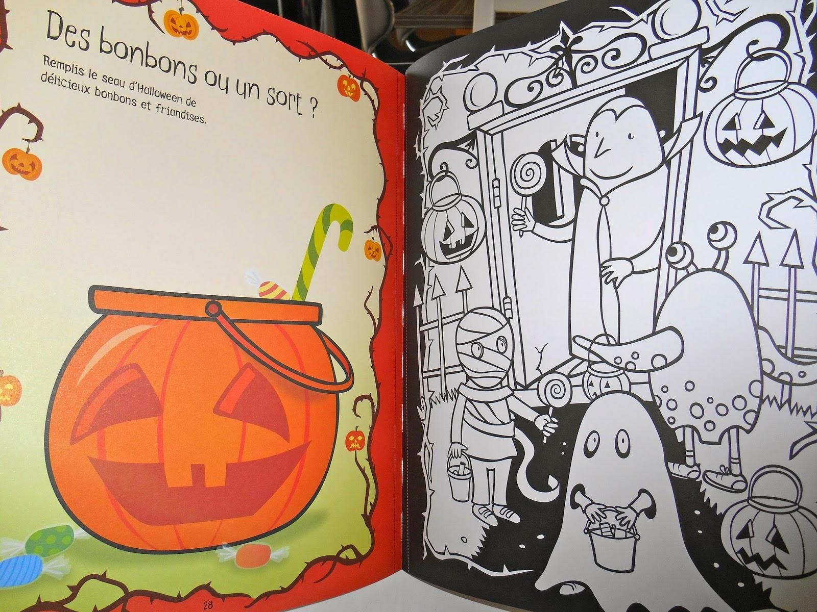 fantômes et sorcières livre de coloriage à voir