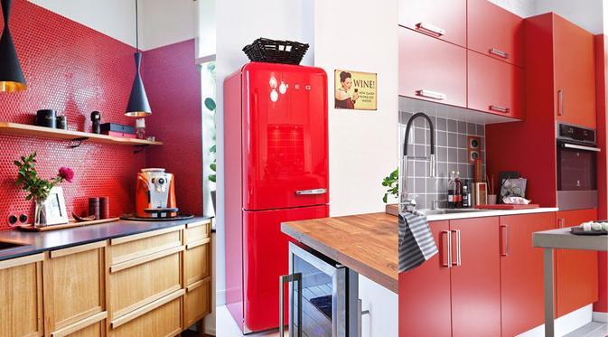 dcoration de cuisine par couleur - Cuisine Couleur Rouge Brique