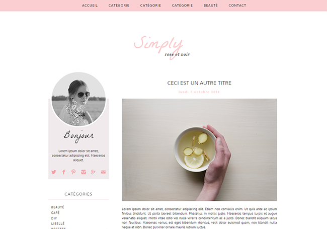 Design de blog, Grab your beauty