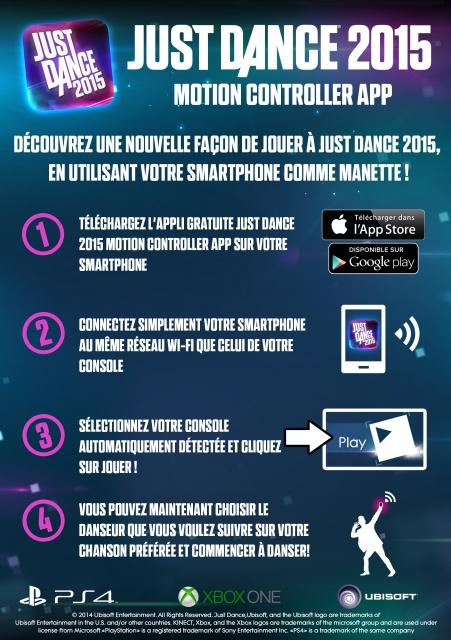 Just Dance 2015 : Une application smartphone