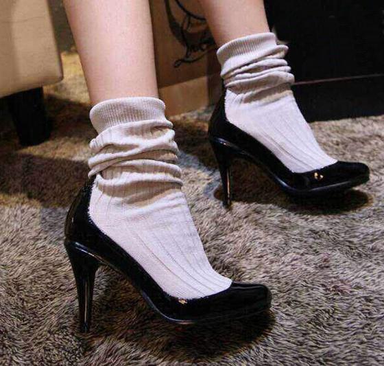 chaussettes dans escarpins