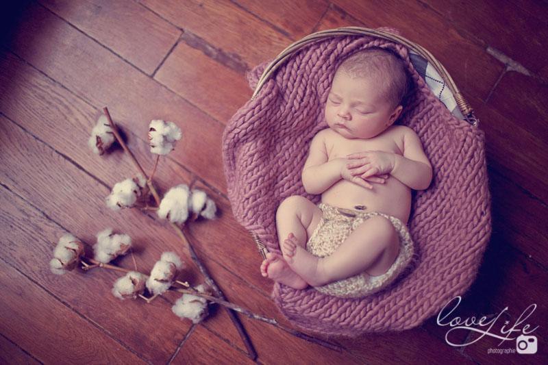 nouveau-né dans un panier