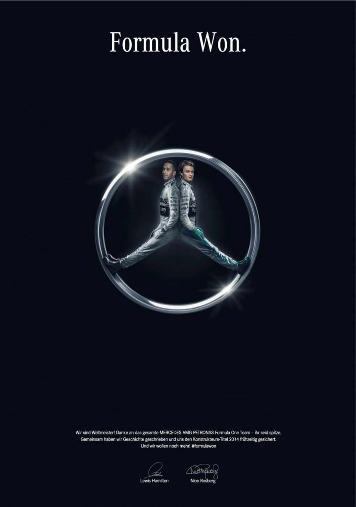Mercedes champions F1 Etoile