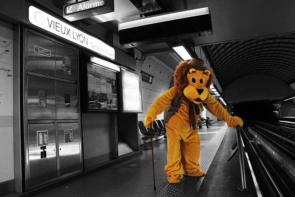Les stations de métro de Lyon illustrées