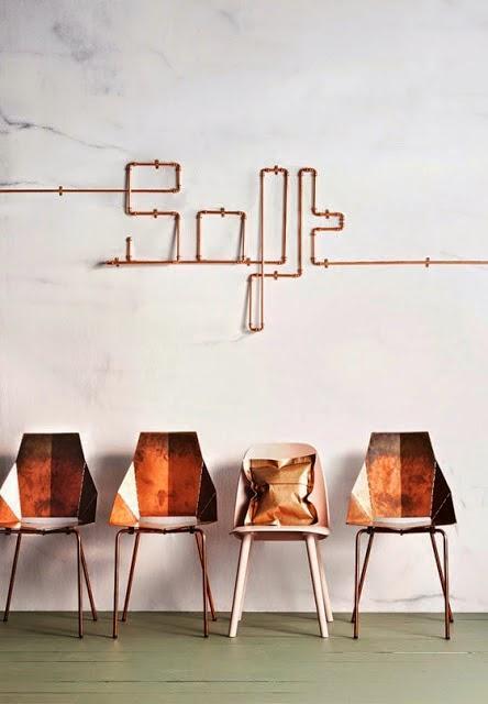 for my home id es d co 9 le tuyau en cuivre paperblog. Black Bedroom Furniture Sets. Home Design Ideas