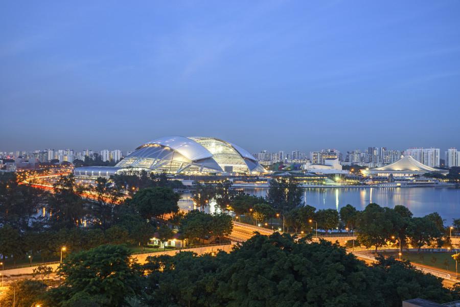 Sports Hub de Singapour : la construction en 2 minutes chrono