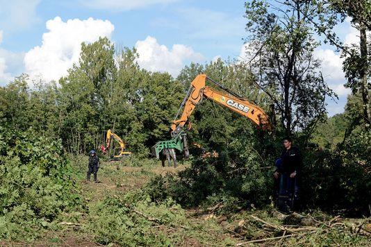 Des policiers sécurisant le site de Sivens, le 9 septembre denier.