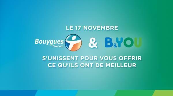 Le 17 novembre, B&YOU devient Bouygues Telecom