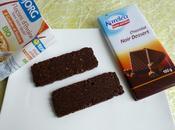 barres céréales diététiques chocolatées flocons d'avoine, raisins graines (sans sucre)