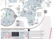 blessures monde, carte murs dans monde