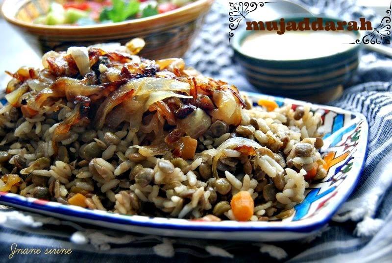 Al mujaddarah ou le riz aux lentilles palestinien paperblog - Absorber l humidite avec du riz ...
