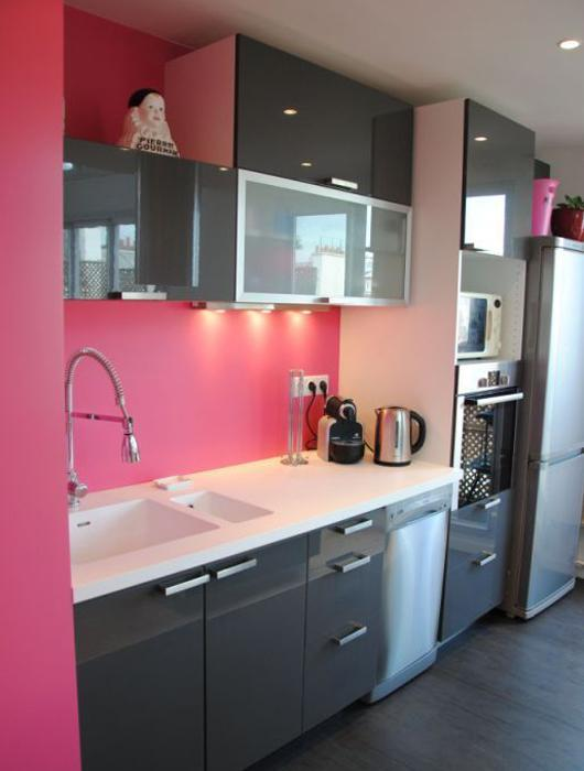 25 id es de cuisine rose lire - Les decoration de cuisine ...