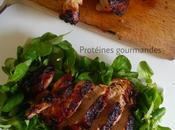 Cuisses dinde grillées four, marinées sauce barbecue