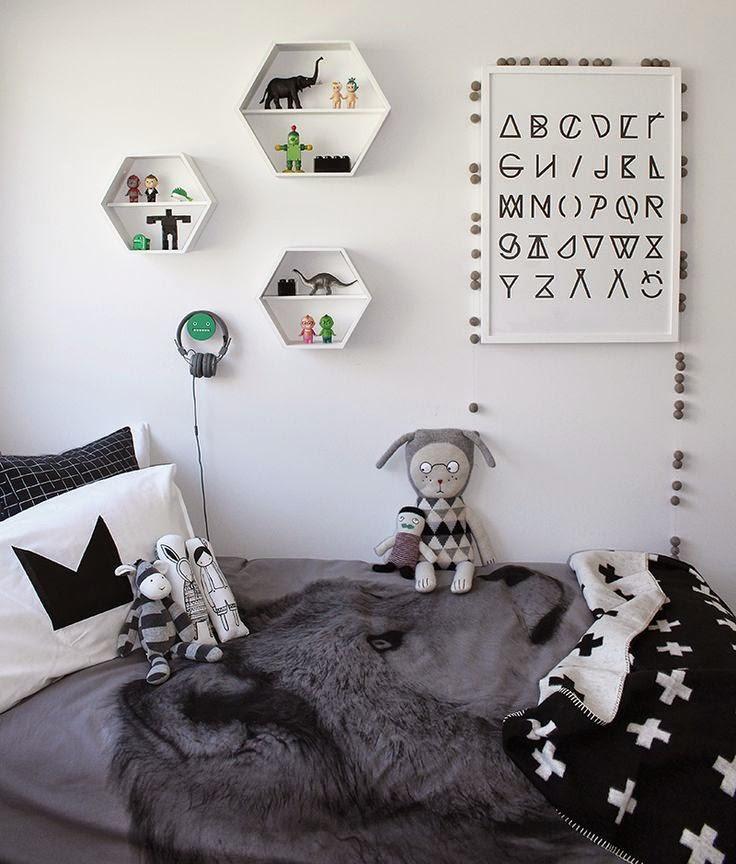 D co tendance le noir et blanc pour les chambres d 39 enfant for Chambre gris noir et blanc