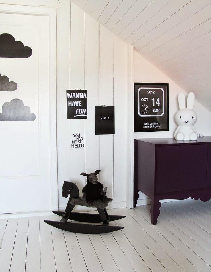 D co tendance le noir et blanc pour les chambres d 39 enfant voir - Chambre enfant noir et blanc ...