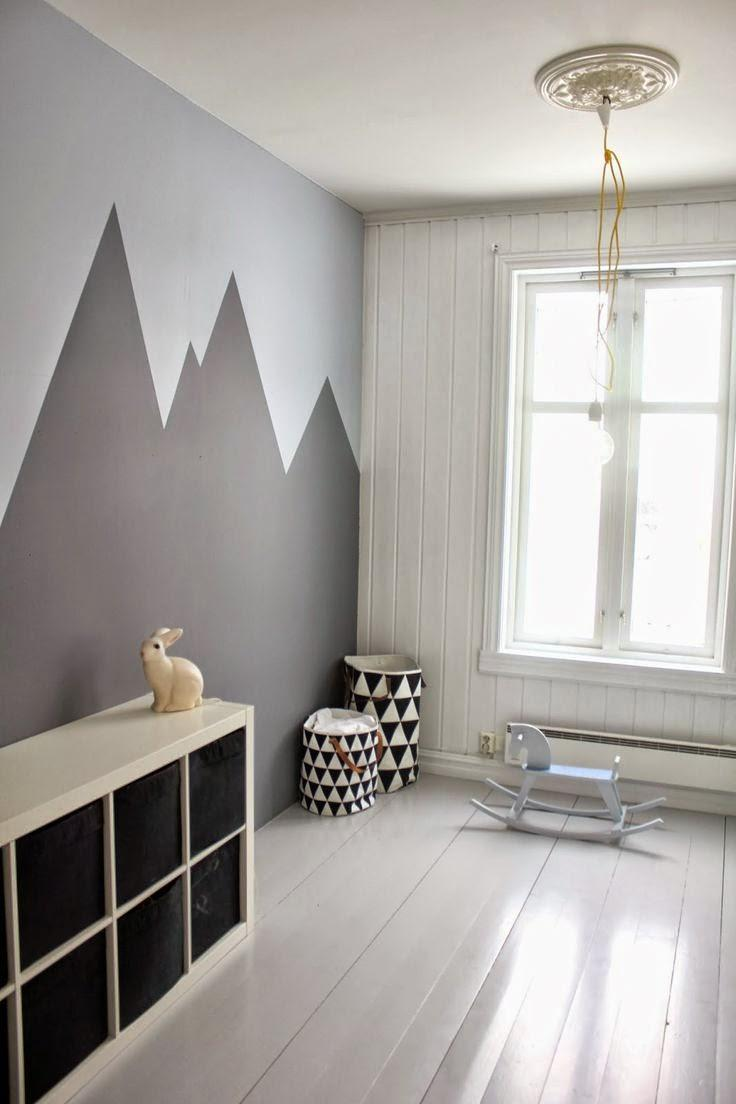 Peinture Noir Et Blanc Chambre : Deco tendance le noir et blanc pour les chambres d enfant