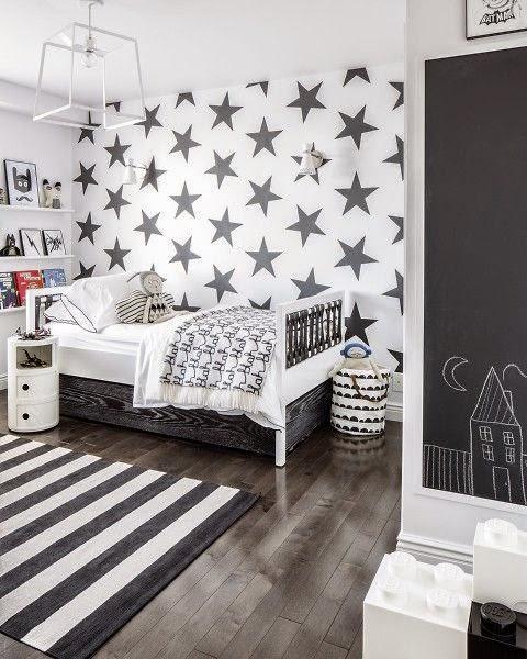 Black N White Bathroom: Déco Tendance, Le Noir Et Blanc Pour Les Chambres D'enfant