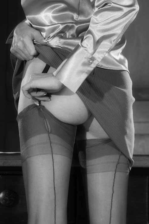 Vintage retro Sutex stretch bas de nylon genou hauts dans le